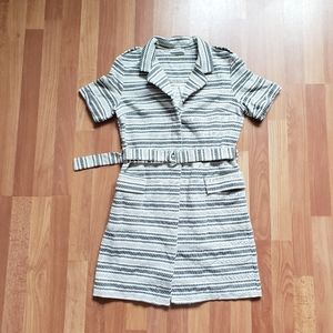 Mudo collection belted button up dress 70s style